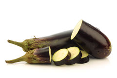 Sliced Suriname aubergine (eggplant) Royalty Free Stock Photos