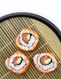 Sliced Sushi On Tray Stock Image