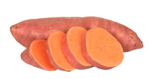 Sliced sweet potatoes Royalty Free Stock Photos