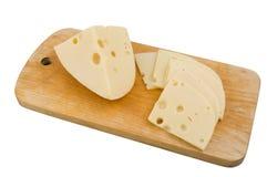 Sliced swiss cheese Stock Photos