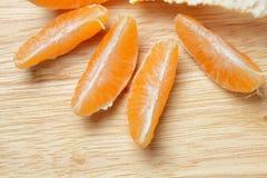 Sliced tangerine Stock Image