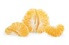 Sliced tangerine fruit Stock Images