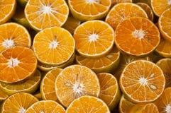 Sliced tangerine orange. Royalty Free Stock Images