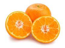 Tangerine. Sliced tangerine path isolated on white Royalty Free Stock Image