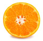 Tangerine. Sliced tangerine path isolated on white Stock Photography