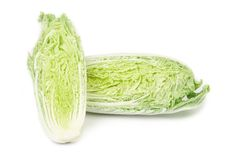 Sliced tasty chinese cabbage. Royalty Free Stock Photography