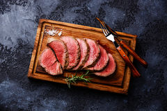 Sliced tenderloin Steak roastbeef Stock Photography