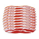 Sliced thin slices fresh bacon stock illustration