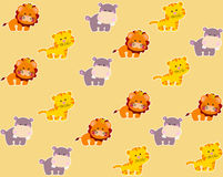 Pattern with cute african animals Royalty Free Stock Photography