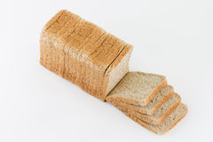 Sliced toast bread isolated on white Royalty Free Stock Image