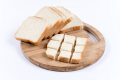 Sliced toast bread. On the wooden board Stock Photo