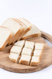 Sliced toast bread. On the wooden board Stock Image