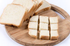 Sliced toast bread. On the wooden board Royalty Free Stock Photos