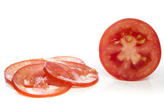 Sliced tomato Stock Photo