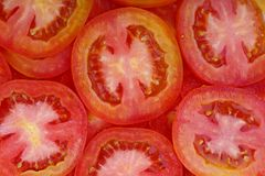 Sliced Tomato Background Stock Images