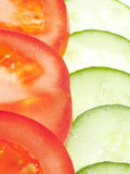 Sliced tomato and cucumber Royalty Free Stock Photo