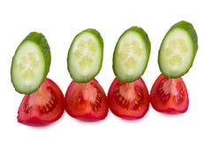 Sliced tomato cucumber Stock Photos