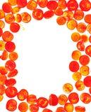 Sliced tomato isolated food frame background Stock Image
