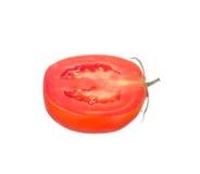 Sliced tomato isolated on white. Background Stock Photo