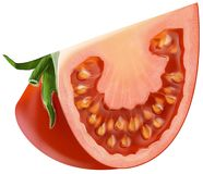 Sliced tomato piece Royalty Free Stock Images