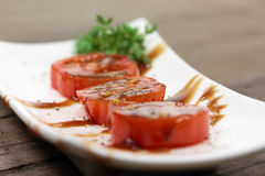 Sliced tomato Stock Photography