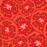 Sliced tomato seamless pattern vector illustration Royalty Free Stock Photos