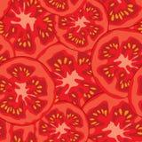 Sliced tomato seamless pattern vector illustration. Vegetable organic food ripe sliced tomato seamless pattern vector illustration stock illustration