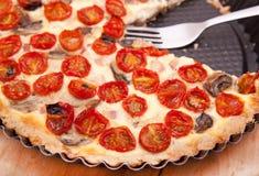 Sliced tomato tart Stock Images
