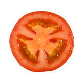 Sliced ​​tomato on white background Stock Images