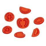 Sliced tomato on white background Royalty Free Stock Photos