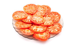 Sliced tomatoes Stock Images