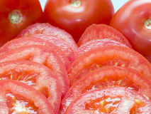 Sliced Tomatoes Stock Image