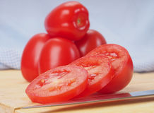 Sliced tomatoes Stock Photos