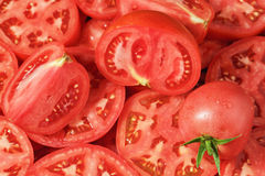 Sliced tomatoes Royalty Free Stock Images