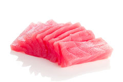 Sliced tuna fillet Royalty Free Stock Photography