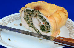 Sliced Turkey Roll Royalty Free Stock Image