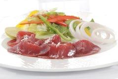 Sliced turkey and salad Royalty Free Stock Photos