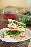 Sliced Turkey Sandwich Royalty Free Stock Image