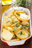 Sliced turnip in the casserole Royalty Free Stock Photo