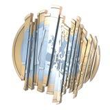 Sliced up Euro Royalty Free Stock Image