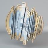 Sliced up Euro vector illustration