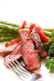 Sliced up steak platter Stock Image
