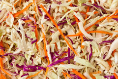 Sliced vegetable background. Ingredient food cabbage and carrot Royalty Free Stock Images