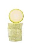 Sliced vegetable marrow Royalty Free Stock Image