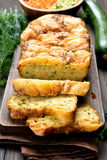 Sliced vegetable moist bread Royalty Free Stock Photography
