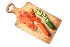 Sliced Vegetables Stock Photography