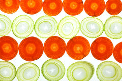 Sliced Vegetables Royalty Free Stock Photos