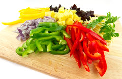 Sliced vegetables Royalty Free Stock Photography