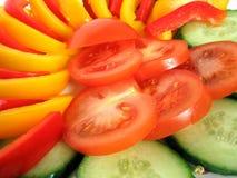 Sliced vegetables Stock Images