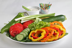 Sliced Vegetables Royalty Free Stock Image